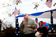 Congressional candidate for the 51st District seat Nick Popaditch speaks a Tea Party rally at Renette Park in El Cajon, CA on Feb. 20, 2010. The event drew several hundred people and speakers included congressional and gubernatorial candidates.