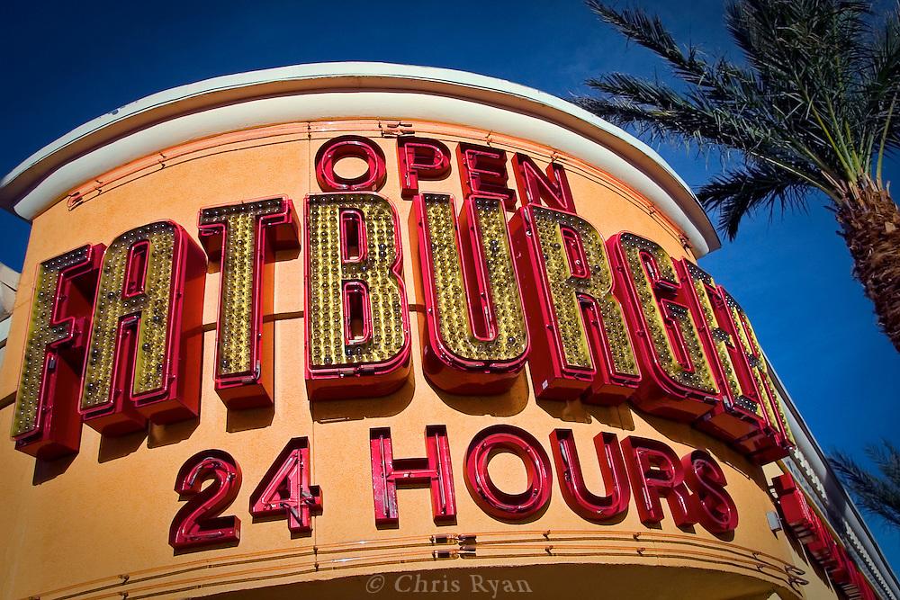 Fatburger restaurant, Los Angeles, California