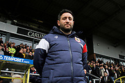 Bristol City manager Lee Johnson during the EFL Sky Bet Championship match between Burton Albion and Bristol City at the Pirelli Stadium, Burton upon Trent, England on 10 March 2018. Picture by Richard Holmes.