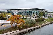 WOLFSBURG, VFL Wolfsburg - PSV, voetbal Champions League groepsfase, seizoen 2015-2016, 21-10-2015, Volkswagen Arena, buitenkant en omgeving stadion.