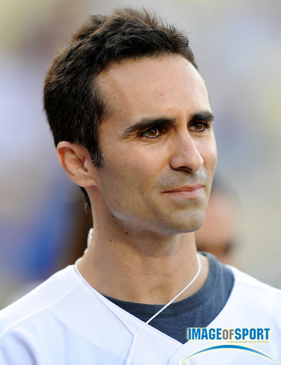 Jul 12, 2008; Los Angeles, CA, USA; Nestor Carbonell during game between the Florida Marlins and Los Angeles Dodgers at Dodger Stadium.