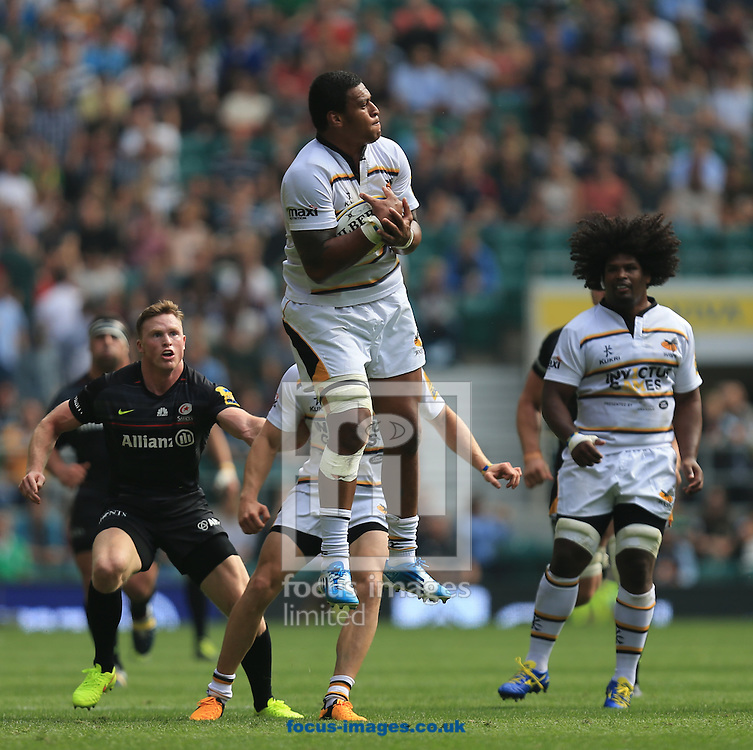 Will Hughes of london Wasps during the Aviva Premiership match at Twickenham stadium, London<br /> Picture by Michael Whitefoot/Focus Images Ltd 07969 898192<br /> 06/09/2014