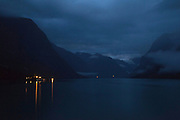 Lovatnet - A lake's night view<br />