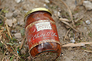 June 06, 2010:  An jars of salse sits in the destruction of the home owned by Tim and Debbie Miller after a tornado hits Ottawa County, OhioTornado destruction in Ottawa County, Ohio