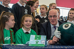 Pictured: John Swinney<br /><br />Deputy First Minister John Swinney and minister for children and young people Maree Todd, joined students from Primary 7 of the Royal High Primary School in Edinburgh today at attend child safety assembly. <br /><br />Ger Harley | EEm 9 May 2019
