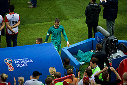 MOSCOW, RUSSIA - Sunday, July 1, 2018: Spain's goalkeeper David De Gea looks dejected after losing 4-3 on penalties to Russia during the FIFA World Cup Russia 2018 Round of 16 match between Spain and Russia at the Luzhniki Stadium. (Pic by David Rawcliffe/Propaganda)