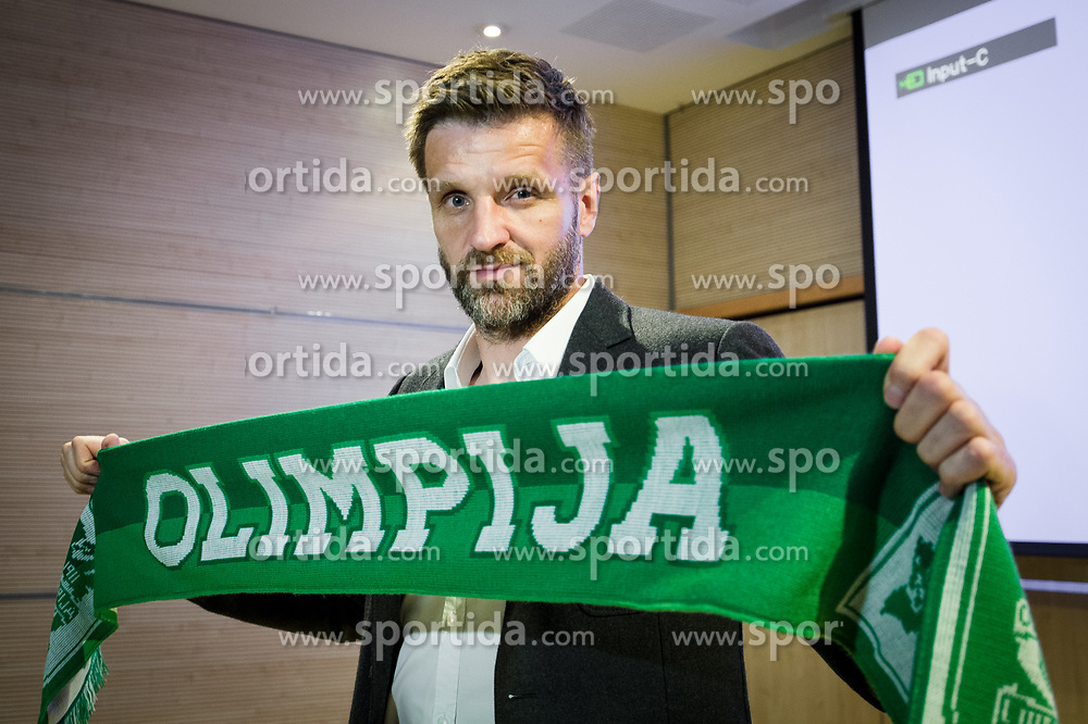 Igor Biscan, new head coach of NK Olimpija at press conference, on June 2, 2017 in Austria Trend Hotel, Ljubljana, Slovenia. Photo by Sasa Pahic Szabo / Sportida