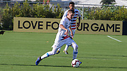 Team USA midfielder Evan Rotundo (10) brings the ball up the pitch during a CONCACAF boys under-15 championship soccer game, Sunday, Aug. 4, 2019, in Bradenton, Fla. The USA defeated Haiti 2-0 (Kim Hukari/Image of Sport)