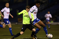Chris Forrester of Peterborough United battles for possession with Rohan Ince of Bury - Mandatory by-line: Joe Dent/JMP - 13/03/2018 - FOOTBALL - Gigg Lane - Bury, England - Bury v Peterborough United - Sky Bet League One
