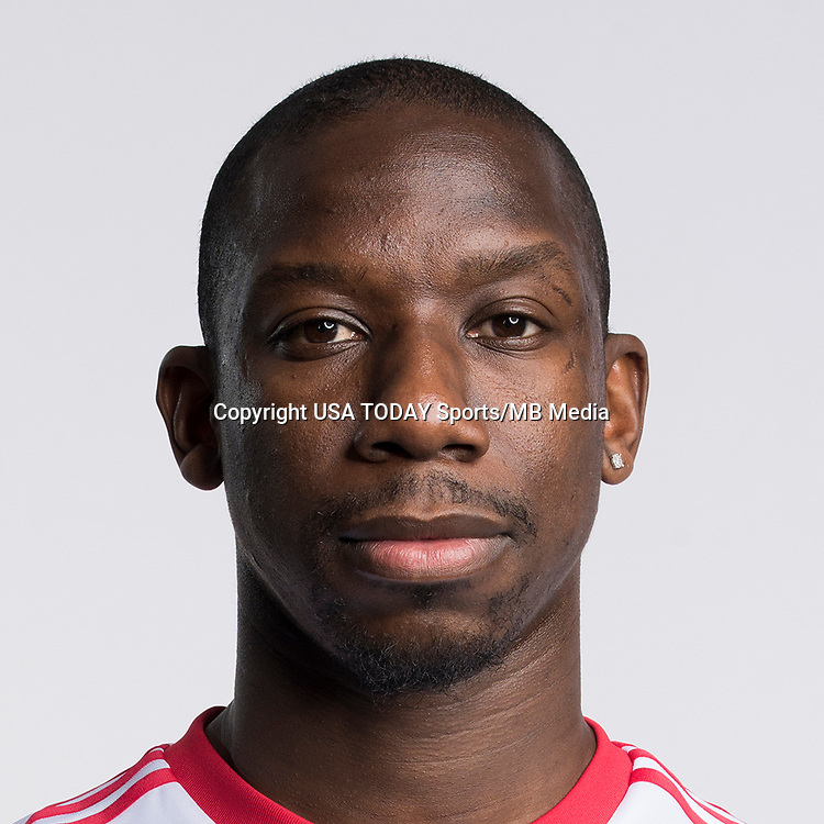 Feb 25, 2017; USA; New York Red Bulls player Bradley Wright-Phillips poses for a photo. Mandatory Credit: USA TODAY Sports