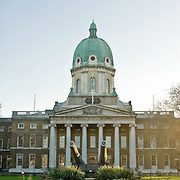 The Imperial War Museum, London. The museum features military vehicles, weapons and a photographic archive of Britain's historical battles.