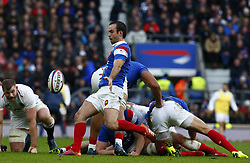 February 10, 2019 - London, England, United Kingdom - Morgan Parra of France..during the Guiness 6 Nations Rugby match between England and France at Twickenham  Stadium on February 10th,  in Twickenham, London, England. (Credit Image: © Action Foto Sport/NurPhoto via ZUMA Press)