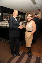 A party to promote the exclusive Puntacana Resort & Club - the Caribbean's Premier Golf & Beach Resort Destination, was held at The Groucho Club, 45 Dean Street London on 12th May 2010.<br /> <br /> Picture shows:-OSCAR DE LA RENTA and MRS FRANK RAINIERI