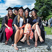 "25.08.2016          <br />  Faculty of Business, Kemmy Business School graduations at the University of Limerick today. <br /> <br /> Attending the conferring were graduates, Caoimhe Murphy, Portlaois Co. Laois, Laura O'Shea, Millstream Co. Cork, Aoife Kirby, Crecora Co. Limerick, Lorna Deegan, The Heath Co. Laois and Rebecca Sheerin, Raheen, Co. Limerick. Picture: Alan Place<br /> <br /> <br /> As the University of Limerick commences four days of conferring ceremonies which will see 2568 students graduate, including 50 PhD graduates, UL President, Professor Don Barry highlighted the continued demand for UL graduates by employers; ""Traditionally UL's Graduate Employment figures trend well above the national average. Despite the challenging environment, UL's graduate employment rate for 2015 primary degree-holders is now 14% higher than the HEA's most recently-available national average figure which is 58% for 2014"". The survey of UL's 2015 graduates showed that 92% are either employed or pursuing further study."" Picture: Alan Place"