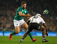Rugby Union - 2017 Guinness Series (Autumn Internationals) - Ireland vs. Fiji<br /> <br /> Stuart McCloskey (Ireland)in action against Levani Botia (Fiji), at the Aviva Stadium.<br /> <br /> COLORSPORT/KEN SUTTON