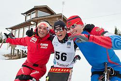 FLEIG Martin, LARSEN Trygve Steinar, DAVIDOVICH Aleksandr, GER, NOR, RUS, Long Distance Biathlon, 2015 IPC Nordic and Biathlon World Cup Finals, Surnadal, Norway