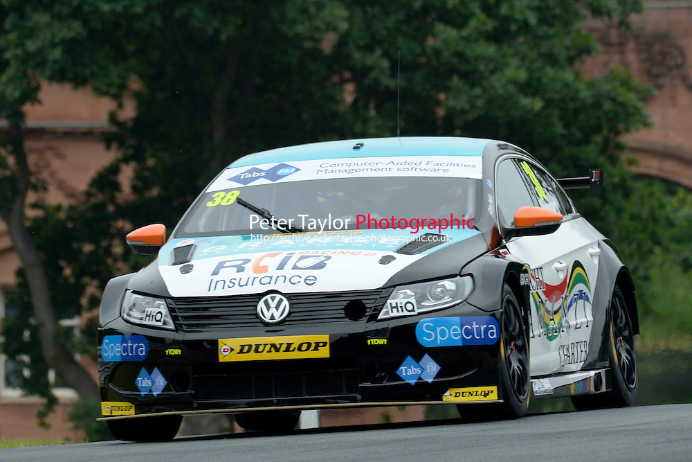 #38 Mark Howard GBR BKR Volkswagen CC  during first practice for the BTCC Oulton Park 4th-5th June 2016 at Oulton Park, Little Budworth, Cheshire, United Kingdom. June 04 2016. World Copyright Peter Taylor/PSP.