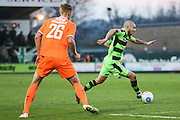 Forest Green Rovers Liam Noble(15) runs forward during the Vanarama National League match between Forest Green Rovers and Braintree Town at the New Lawn, Forest Green, United Kingdom on 21 January 2017. Photo by Shane Healey.
