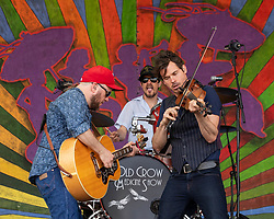 May 3, 2018 - New Orleans, Louisiana, U.S - CRITTER FUQUA, CORY YOUNTS and KETCH SECOR of Old Crow Medicine Show during 2018 New Orleans Jazz and Heritage Festival at Race Course Fair Grounds in New Orleans, Louisiana (Credit Image: © Daniel DeSlover via ZUMA Wire)