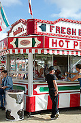 Pizza stand at the Blue Hill Fair, Maine.