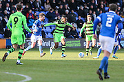 Forest Green Rovers Dale Bennett(6) on the ball during the FA Trophy match between Macclesfield Town and Forest Green Rovers at Moss Rose, Macclesfield, United Kingdom on 4 February 2017. Photo by Shane Healey.