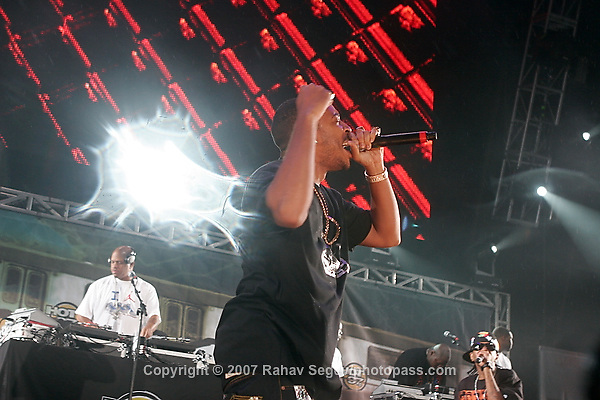 "Chris ""Ludacris"" Bridges performing at Giant's Stadium in East Rutherford New Jersey on June 3, 2007 during Hot 97's Summerjam 2007...© Rahav Segev/ Retna ltd."