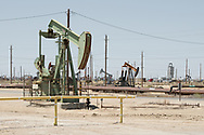 Oil field near Lost Hills, Central Valley, California, USA
