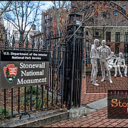 June 28, 2019 will mark 50 years form the Stonewall riots of June 28, 1969<br /> <br /> Stonewall National Monument is a U.S. National Monument in the West Village neighborhood of Greenwich Village in Lower Manhattan, New York City. The designated area includes Christopher Park and the block of Christopher Street bordering the park, which is directly across the street from the Stonewall Inn&mdash;the site of the Stonewall riots of June 28, 1969, widely regarded as the start of the modern LGBT rights movement in the United States.