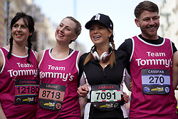Amanda Holden with Team Tommy's during the 2019 London Landmarks Half Marathon.