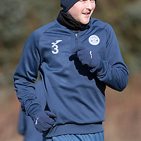 St Johnstone Training…22.02.16<br />Tam Scobbie pictured in training this morning ahead of tomorrow night's re-arranged game against Partick Thistle<br />Picture by Graeme Hart.<br />Copyright Perthshire Picture Agency<br />Tel: 01738 623350  Mobile: 07990 594431