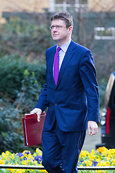 Downing Street, London, February 28th 2017. Business Secretary Greg Clark attends the weekly cabinet meeting at 10 Downing Street in London.