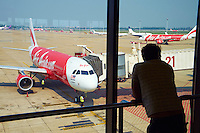 Malaisie, avion Air Asia // Malaysia, Air Asia aircraft