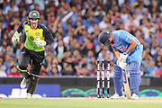 Rohit Sharma is bowled. T20 international, Australia v India. Sydney Cricket Ground, NSW, Australia, 25 November 2018. Copyright Image: David Neilson / www.photosport.nz