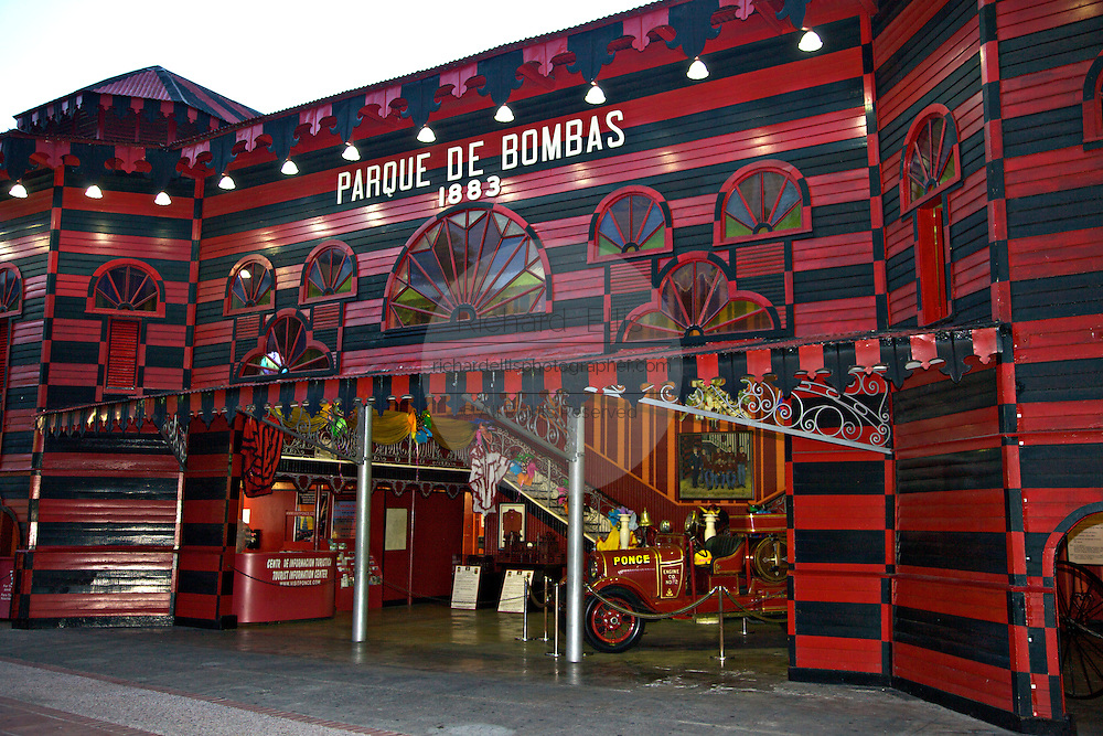 Historic Parque de Bombas a former fire house and now a museum February 19, 2009 in Ponce, Puerto Rico.