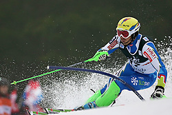 06.01.2013, Crveni Spust, Zagreb, CRO, FIS Ski Alpin Weltcup, Slalom, Herren, 1. Lauf, im Bild Mitja Valencic (SLO) // Mitja Valencic of Slovenia in action // during 1st Run of the mens Slalom of the FIS ski alpine world cup at Crveni Spust course in Zagreb, Croatia on 2013/01/06. EXPA Pictures © 2013, PhotoCredit: EXPA/ Pixsell/ Sanjin Strukic..***** ATTENTION - for AUT, SLO, SUI, ITA, FRA only *****