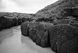 Hvíta river in south Iceland - Hvítá, klettar