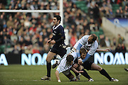 Twickenham, GREAT BRITAIN,  Oxfords' Thomas GREGORY feels the weight of Trevor BOYNTON's Tackle during the 2008 Varsity Rugby match Oxford vs Cambridge played at the RFU Stadium Twickenham, Surrey on  Thursday, 11/12/2008[Photo, Peter Spurrier/Intersport-images]