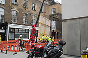 Damien Hirst painting being delivered to White Cube, Mason's Yard.  10 September 2019