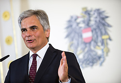 21.05.2013, Bundeskanzleramt, Wien, AUT, Bundesregierung, Pressefoyer nach Sitzung des Ministerrats, im Bild Bundeskanzler Werner Faymann SPOe // Federal Chancellor Werner Faymann SPOe during press foyer after  council of ministers, Chancellors office, Vienna, Austria on 2013/05/21, EXPA Pictures © 2013, PhotoCredit: EXPA/ Michael Gruber