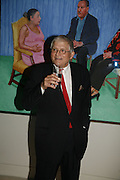 David Hockney, Burberry celebrates the opening of the Hockney exhibition and their 150th anniversary with a party at the National Portrait Gallery. 11 October 2006. -DO NOT ARCHIVE-© Copyright Photograph by Dafydd Jones 66 Stockwell Park Rd. London SW9 0DA Tel 020 7733 0108 www.dafjones.com