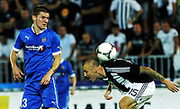 30.08.2012 <br /> FK Partizan - Tromsø IL<br />  Europa League play off<br />  men's football<br /> Zdenek Ondrasek (L) TROMSO IL and  Ivan Ivanov (r) FK Partizan