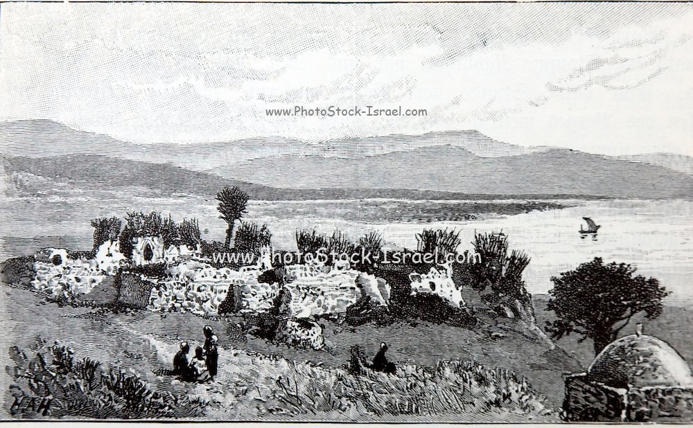 Historic illustration of the Sea of Galilee