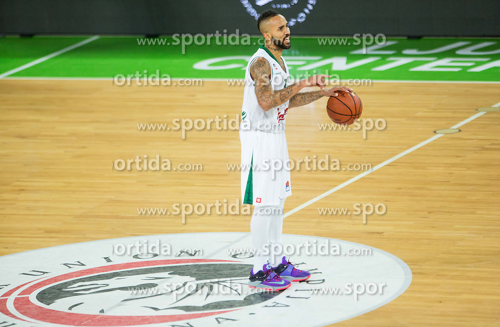 Zack Wright of Union Olimpija during basketball match between KK Union Olimpija Ljubljana and MZT Skopje Aerodrom in Round #1 of ABA League 2015/16, on October 1, 2015 in Arena Stozice, Ljubljana, Slovenia. Photo by Vid Ponikvar / Sportida