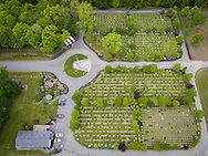Goshen, New York - An aerial view of Orange County Veteran's Cemetery on May 24, 2016.