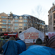 Writing on the wall of Tent City University tent, a tent used for workshops and meetings through-out the occupation. The camp Occupy London Stock Exchange outside St Paul's Cathedral was in the morning served with eviction notice after months of legal battle with the Corporation of London. The site was occupied Oct 15th.