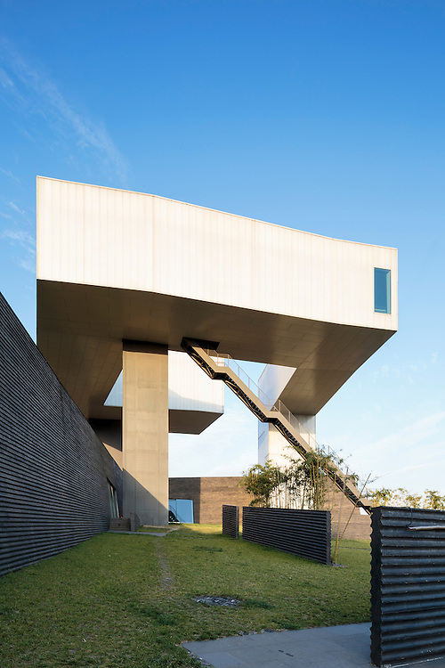 Nanjing Sifang Art Museum in China designed by Steven Holl Architects.