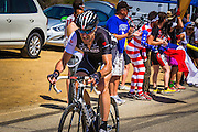 Professional cyclist Jens Voigt at the Amgen Tour of California, Santa Monica Mountains, California USA