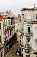 There are more people than cars on Compostela St. in Habana Vieja, Cuba, on Thursday, April 17, 2008.