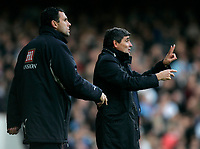 Photo: Tom Dulat/Sportsbeat Images.<br /> <br /> West Ham United v Tottenham Hotspur. The FA Barclays Premiership. 25/11/2007.<br /> <br /> Manager of Tottenham Hotspur Juande Ramos (R) during the game.