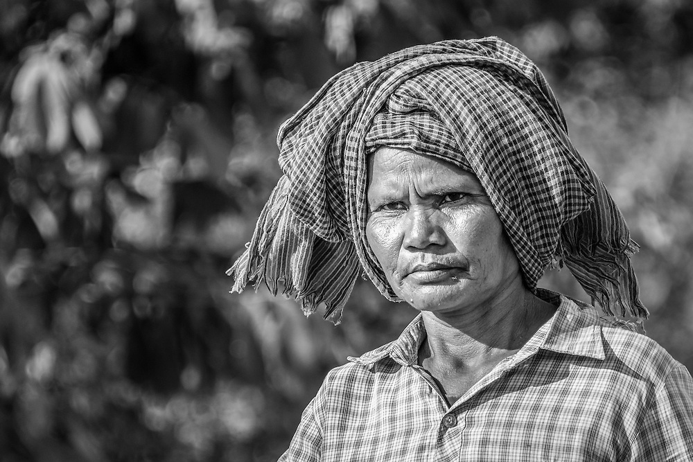 A farmer in rural Cambodia